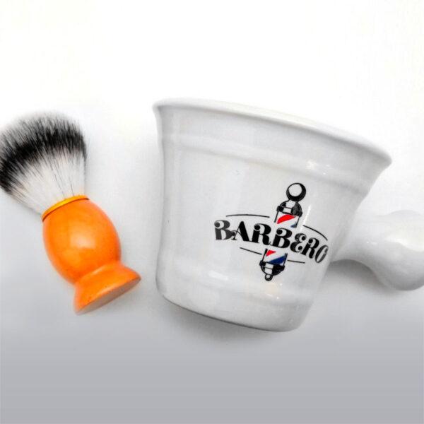 Bowl y brocha para barbero