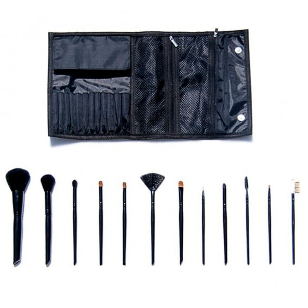 Set escolar con 12 brochas para maquillaje